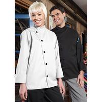 Rio White Chef Coat- 5 black buttons