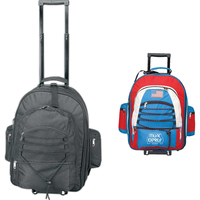 Expandable rolling backpack