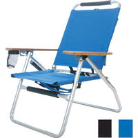 Beach Chair with Fishing Rod Holder
