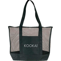 Zippered mesh tote