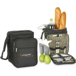 Cooler with picnic set for two