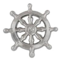 Silver Buddhist Wheel Pin