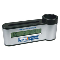 Pen Holder with Digital Calendar/Clock & Thermometer