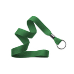 "5/8"" Kelly Green Flat Blank Lanyards with Black Split Ring"