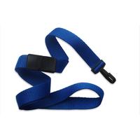 "5/8"" Royal Blue Flat Blank Lanyards with Narrow Plastic Hook"