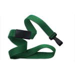 """5/8"""" Kelly Green Flat Blank Lanyards with Wide Plastic Hook"""