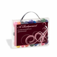 Briefcase Candy Container with Business Card Slot