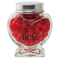 Glass Heart Jar / Red Hots (R)