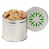 Half Quart Round Tin / Mini Chocolate Chip Cookies