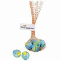 Mesh Bag with 5 Chocolate Earth Balls