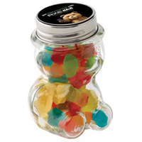 Glass Teddy Bear Jar / Mini Gummy Bears