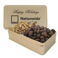 Large 2 Way Rectangle Tin/English Butter Toffee/Almonds