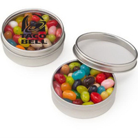 Small Clear Window Tin with Jelly Belly (R) Jelly Beans