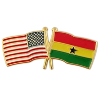 World Flag - USA & Ghana Flag Pin