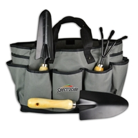 4 PC LARGE GARDENING TOOL SET WITH TOTE BAG
