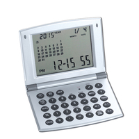 World Time Alarm Clock with Calendar, Calculator