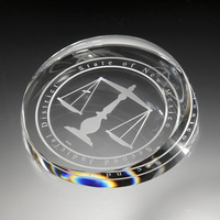 Award-Clear corona Paperweight