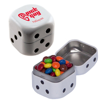 Dice Tin with Chocolate Littles Compare to M&M(r) candy