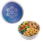 Royal Tin w/Candy-Coated Chocolate, Nuts & Caramel Popcorn