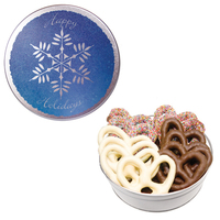 The Royal Tin With Chocolate Covered Pretzels