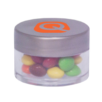 Twist Top Container Silver Cap filled with Chocolate Little