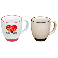 14oz Heartland Almond Mug with Colored Trim, spot color