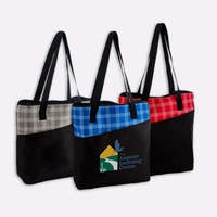 Harper Plaid Tote Bag
