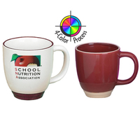 14oz Heartland Bistro Mug with Almond Trim, four color