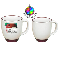 14oz Heartland Bistro Almond Mug with Trim, Four color