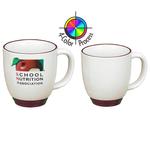 14oz Heartland Bistro Almond Mug with Trim, Four color