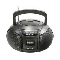 Sentry AM/FM Mini Boom Box Radio w/ Clock