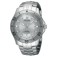 Pulsar Men's Classic Active Sport Watch Silver Watch