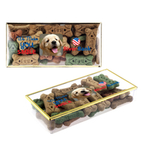 Golden Rim Box with Dog Bone Treats