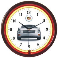 "12"" diameter single-color neon wall clock"