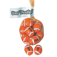 Mesh Net Bag With Foil Wrapped Chocolate Footballs