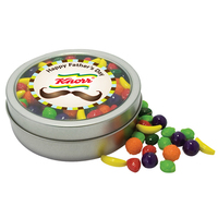 Deluxe Trail Mix in Imprinted Circular Rim Tin