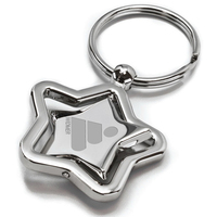 Star Shaped Revolving Keytag