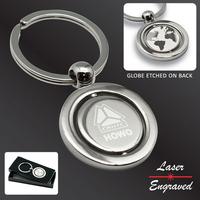 Round Revolving Globe Key Tag