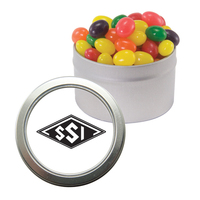 Silver Candy Window Tin with Jelly Beans
