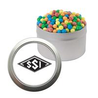 Silver Candy Window Tin with Mini-Tarts