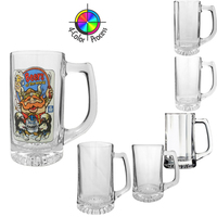 Glass Tankards, four color process