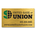 Brushed Gold Business Card Magnet