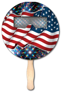 Fireworks Glasses Fan - Round - Stock Designs