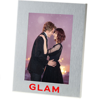 5x7 Brushed Metal Photo Frame