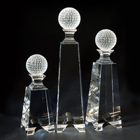 Crystal golf ball award