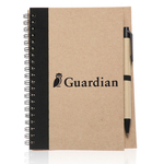 7 in x 5 1/2 in Recycled Eco Notebook with Pen