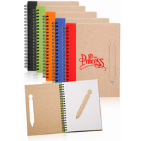 Eco Notebook with Die Cut Pen- 5.12 inches x 7.12 inches