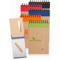 Eco Jotter with Die Cut Pen- 3.5 inches x 5.6 inches