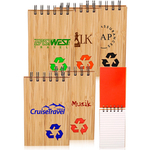 3.65 x 5.5 inch Eco Recycled Bamboo Jotter