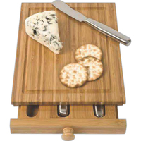 Bamboo Cheese Tools Case / Cutting Board, 3 Tools